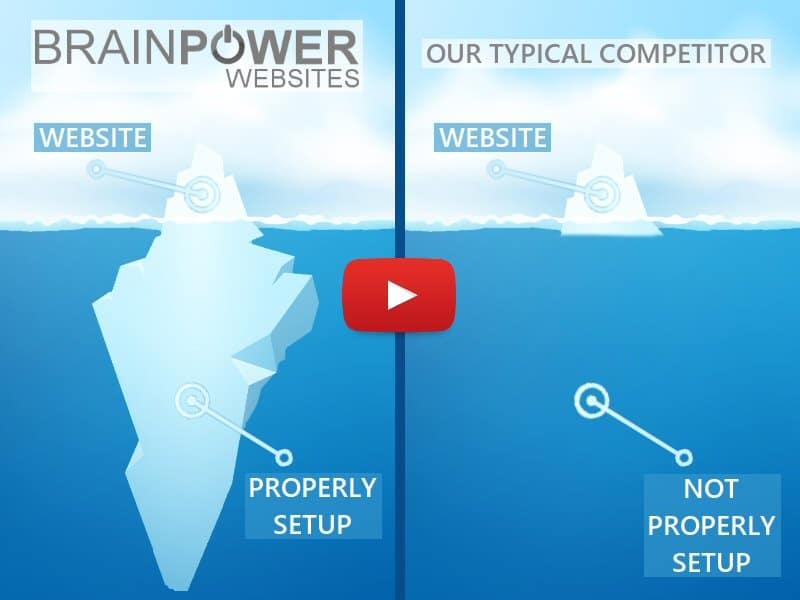 Baltimore Website Design Brain Power Websites vs Competitors Video