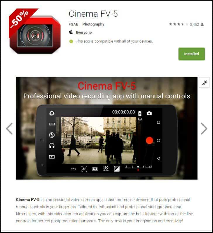 Cinema FV-5 Android App